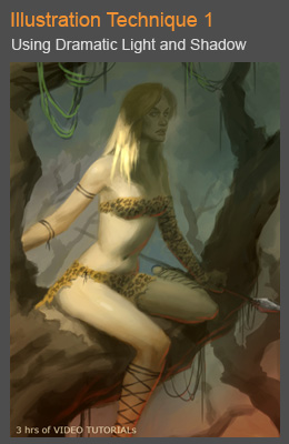 cover illo tech 1 Digital painting tutorial female hunter chief