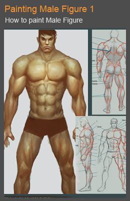 cover male figure 01 Digital painting tutorial noble man