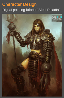 cover steel paladin 01 Photoshop digital painting tutorial Warlock character design