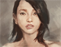 how to paint Asian woman portrait