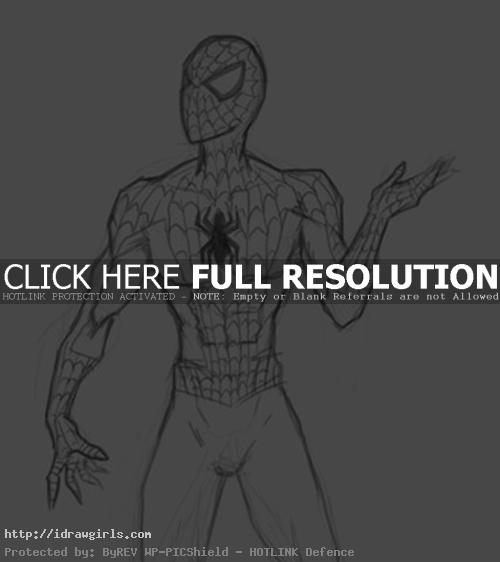 drawing Marvel Spiderman