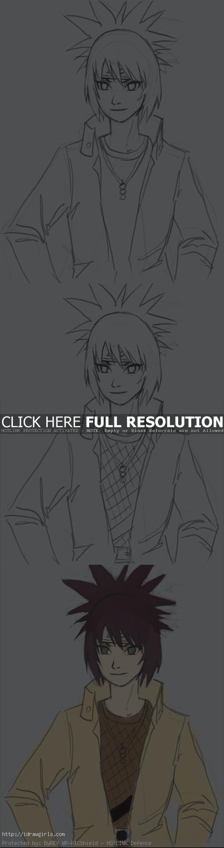 How to draw Anko Mitarashi part 2