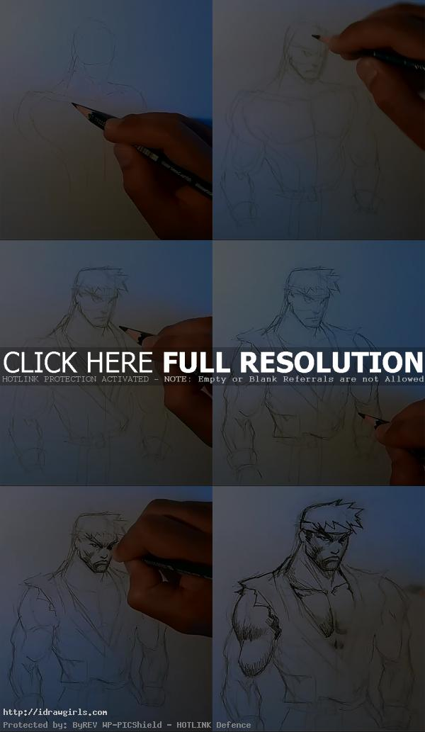How to draw Ryu Street Fighter