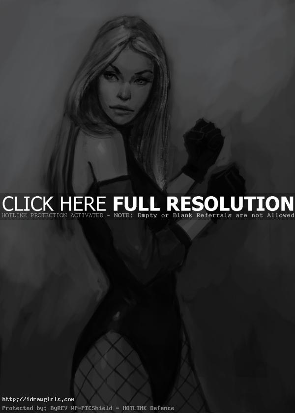 Black Canary drawing