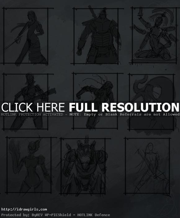 character thumbnails drawings