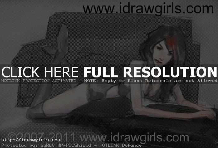draw woman reclining pose
