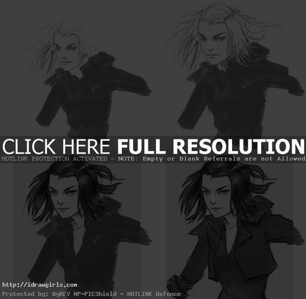 how to draw Shadowcat Kitty