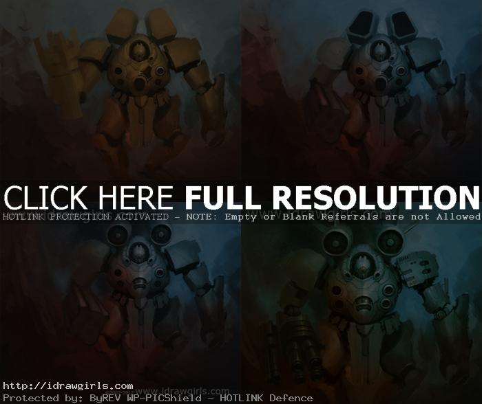 how to paint mecha concept