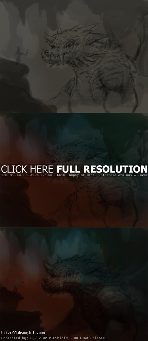 painting dragon tutorial