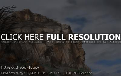 How to paint rock cliff and sky