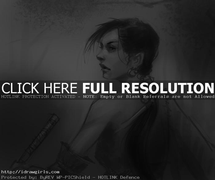 Samurai drawing ronin