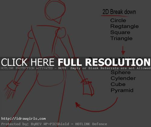 simple drawing technique for figure