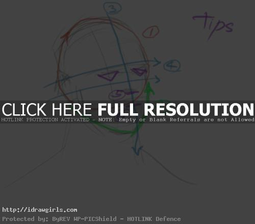 tips on drawing face
