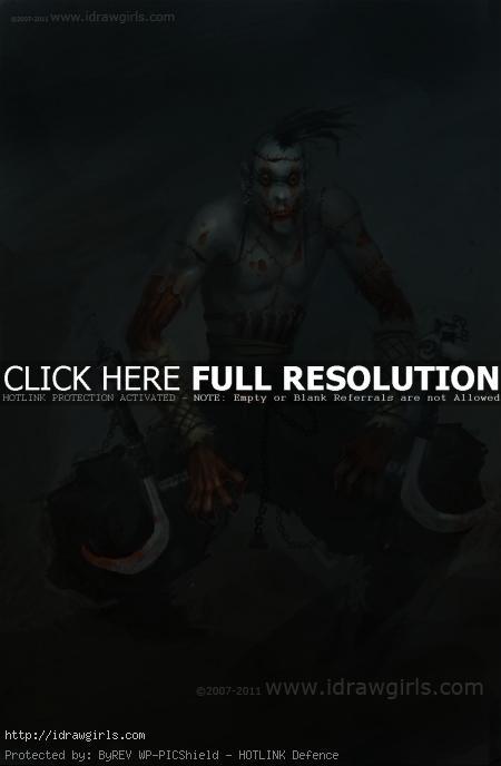 Zombie ninja digital painting tutorial