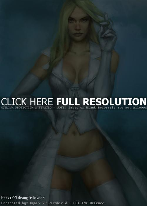 how to color comics Emma Frost