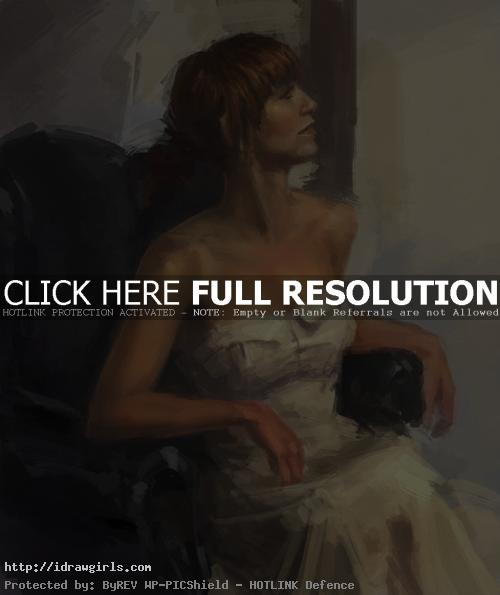 figure painting with costume