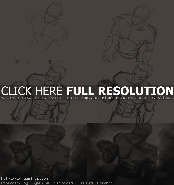 how to draw Green Lantern