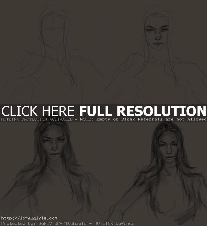 how to draw Mystique x-men