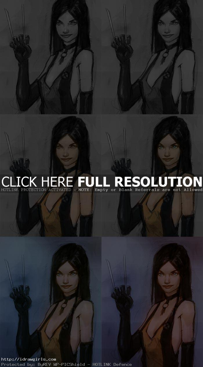 how to paint comics X 23