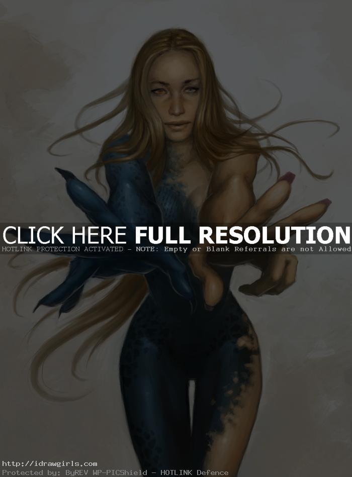 Draw and paint Mystique X-men