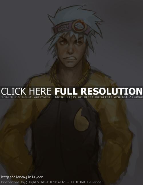 draw realistic Anime guy