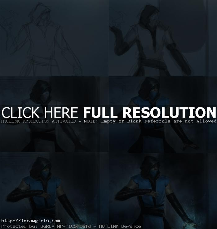 Digital painting tutorial Sub-Zero