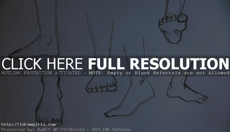 How to draw foot