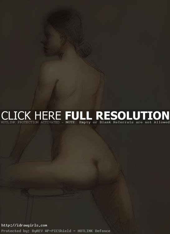 Painting over figure drawings