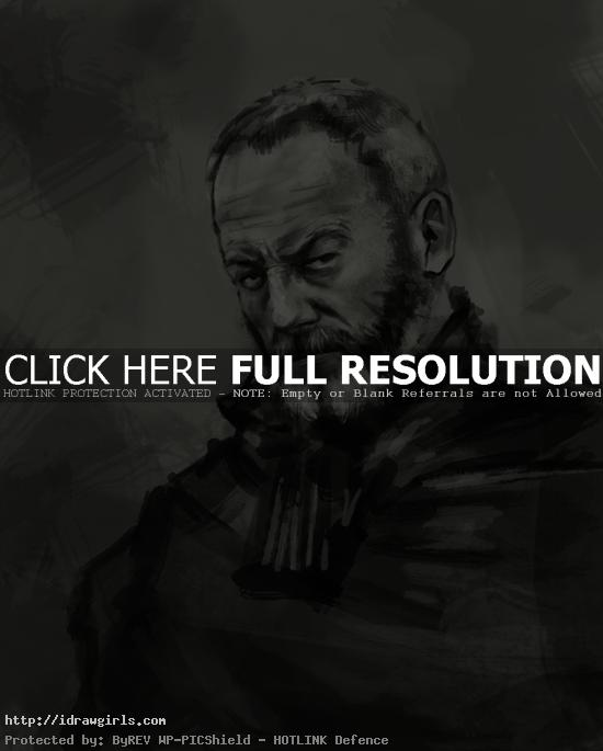 Davos Seaworth Game of Thrones drawing