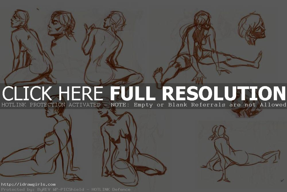 figure drawing with brush