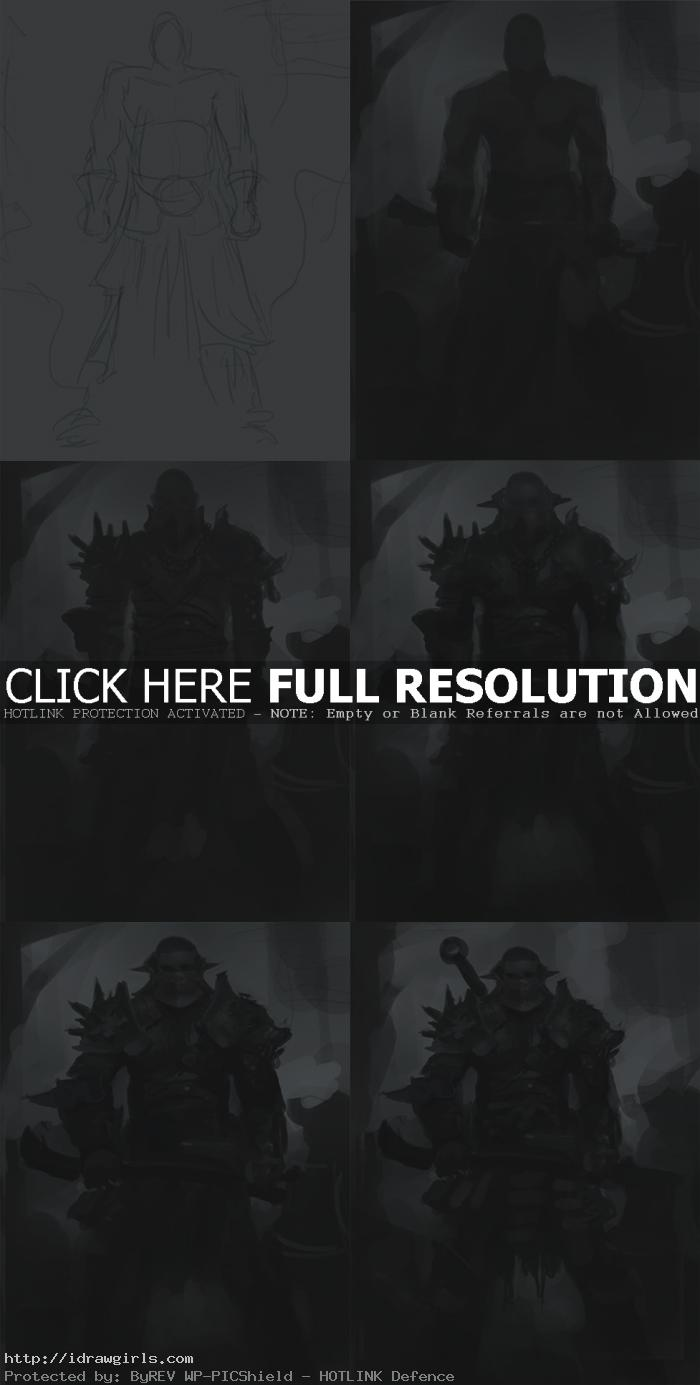 how to draw executioner character design