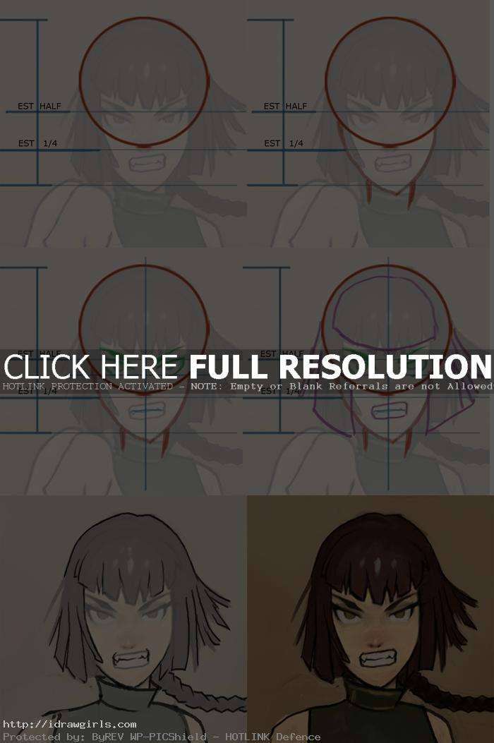 how to draw Manga face Mei