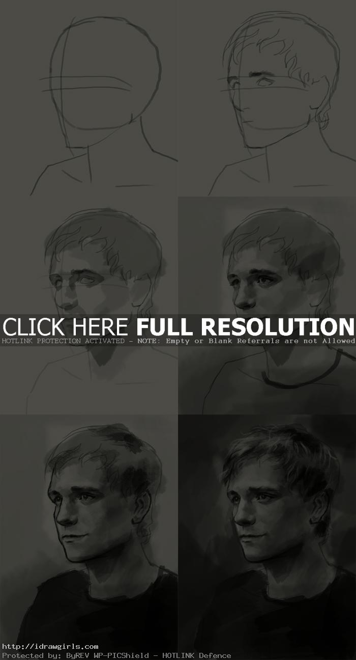 How to draw Peeta Mellark Hunger Games