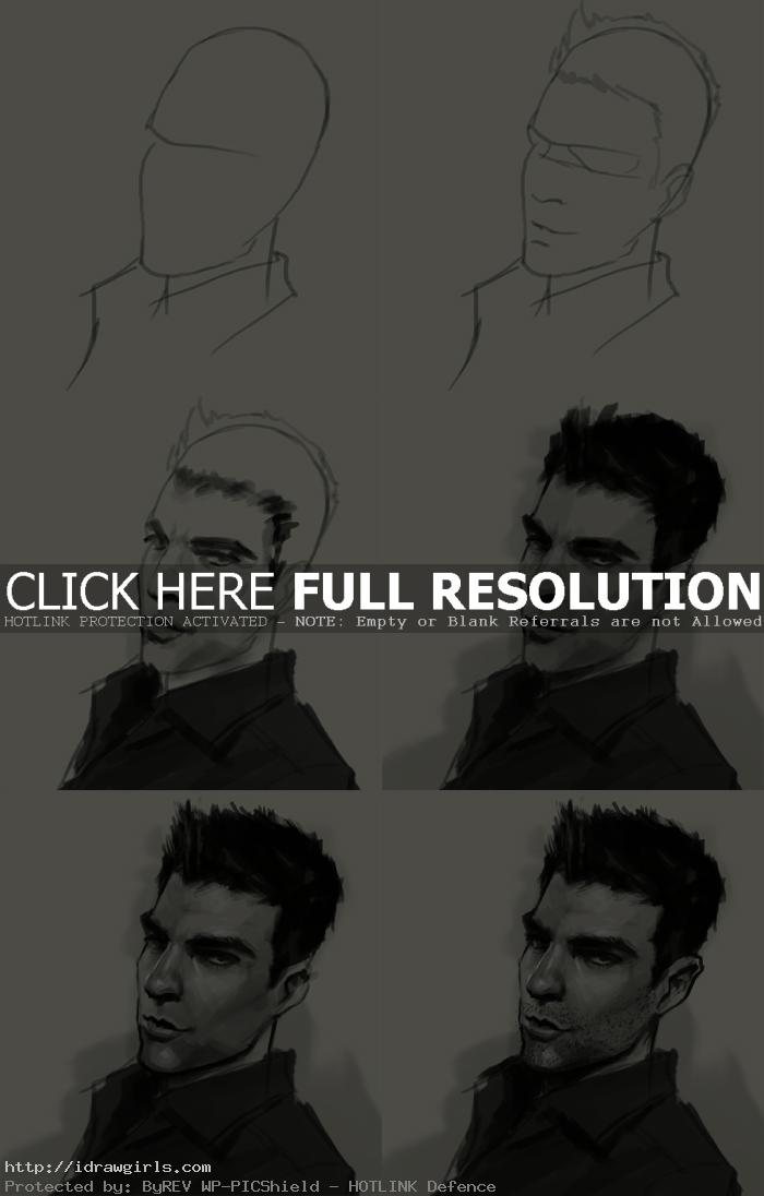 How to shade a portrait drawing