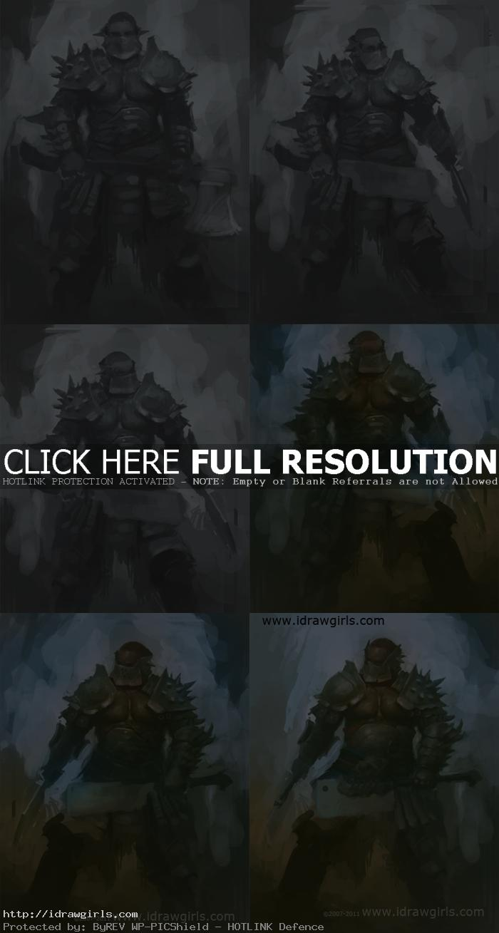 how to paint executioner concept