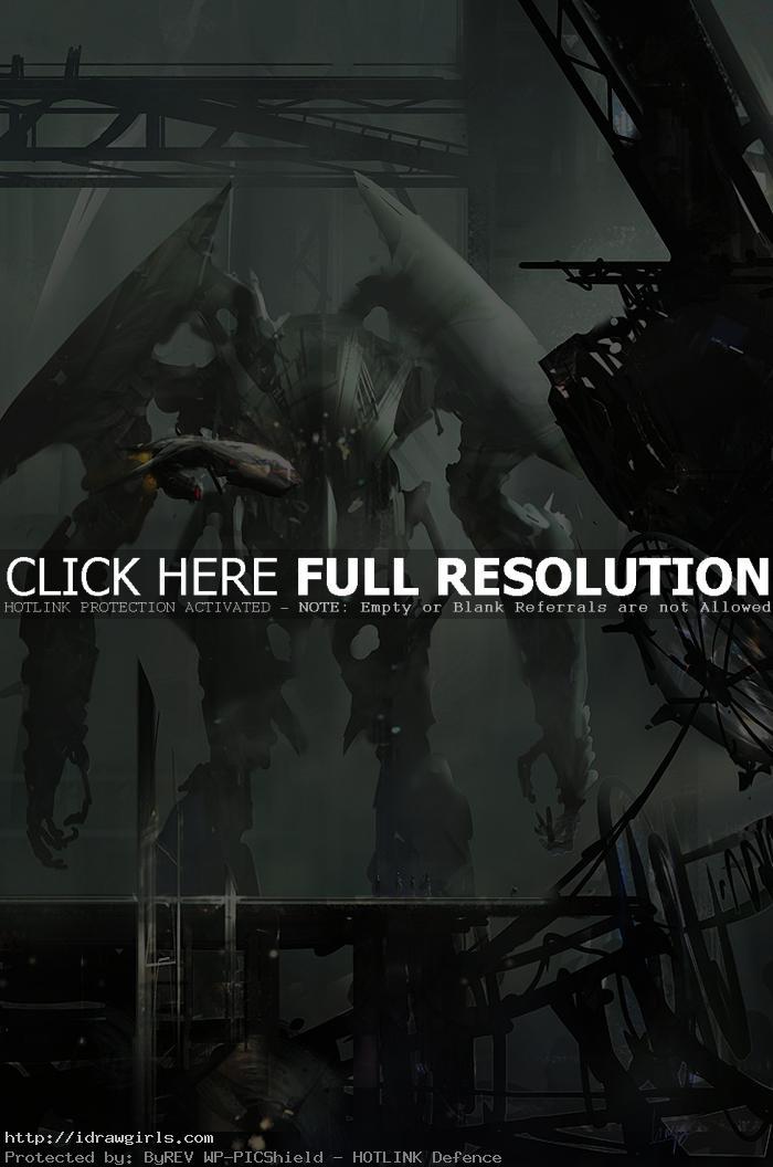 lingy0 big bot concept art © Yun Ling