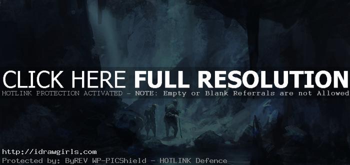 cave concept art © Yun Ling