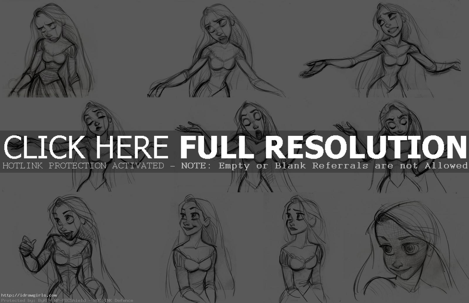 Rapunzel Disney expression design