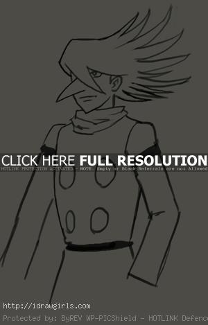 drawing manga cyborg 002