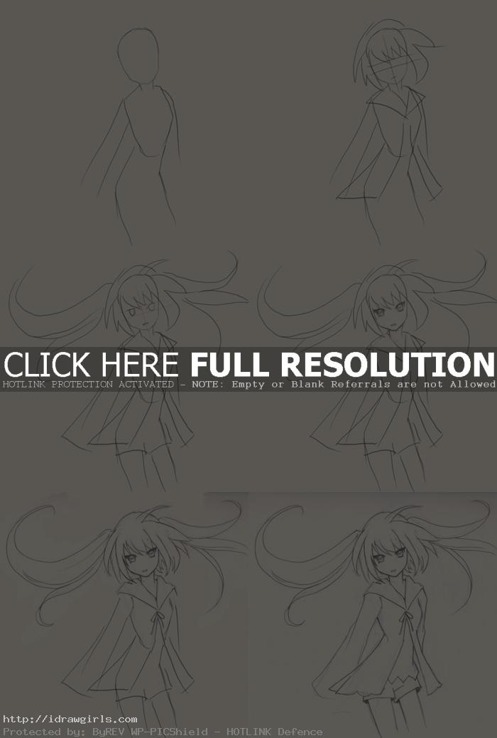 how to draw Anime girl Korune