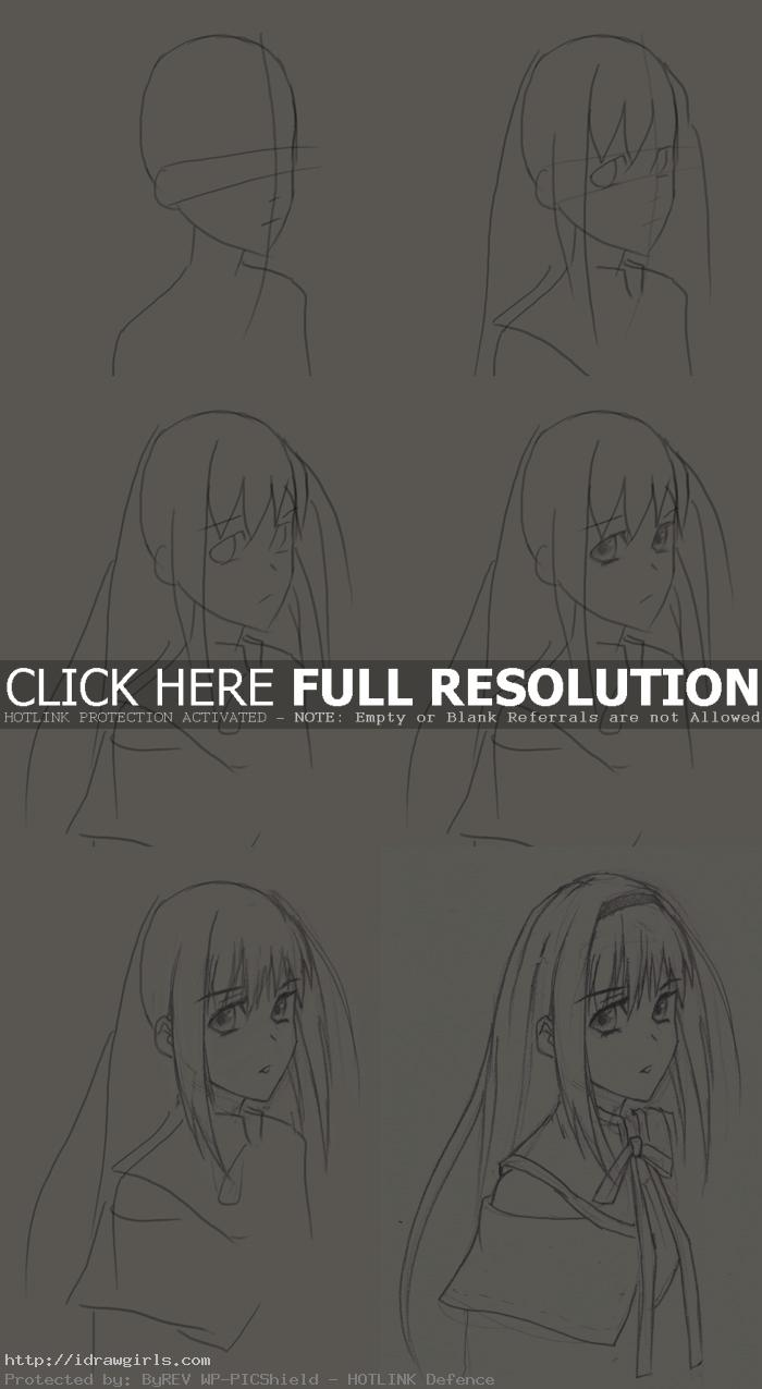 how to draw Magical Girls Homura Akemi