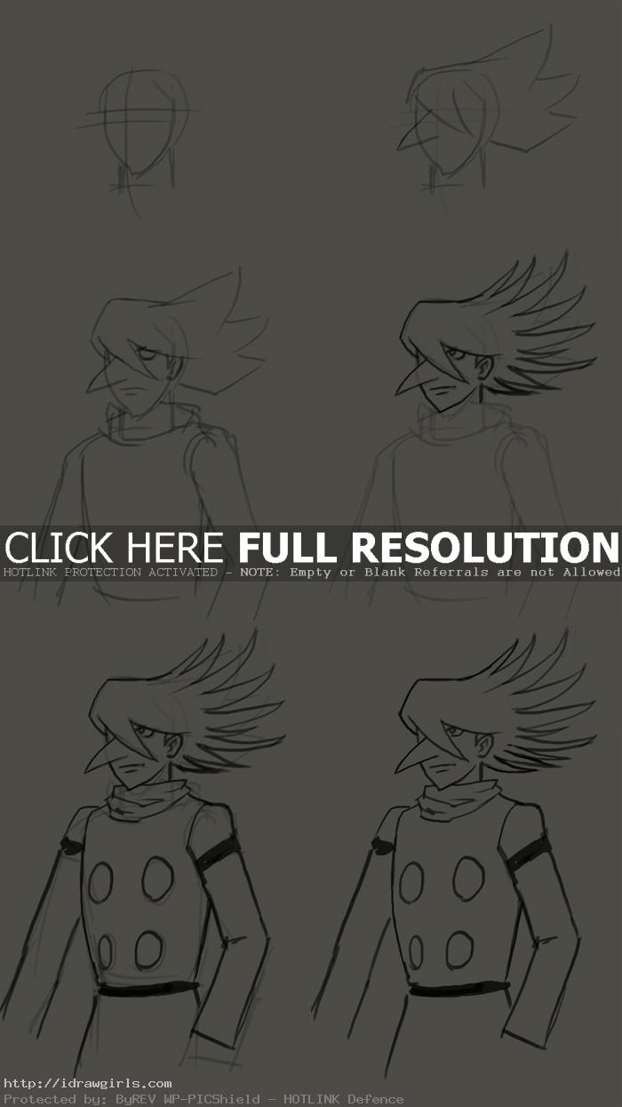 how to draw manga cyborg 002