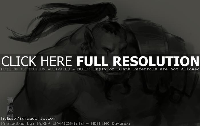 How to draw Orc