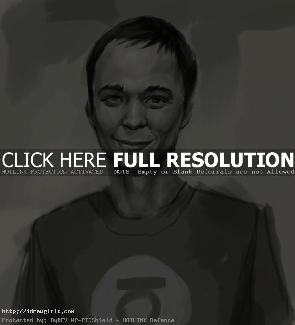 Sheldon Cooper drawing