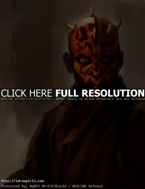 Darth Maul digital painting cu