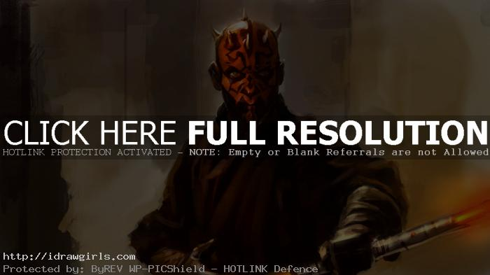 Digital painting tutorial Darth Maul