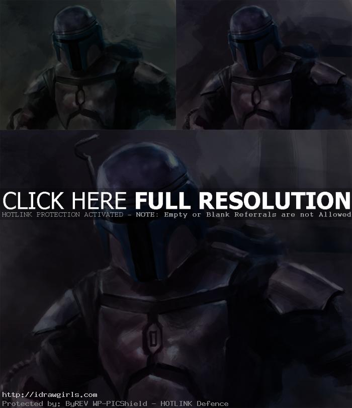 digital painting tutorial Jango Fett part 2