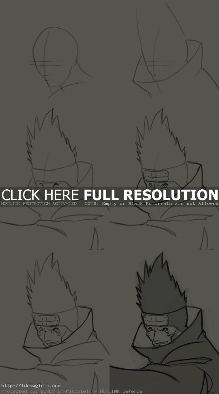 How to draw Hoshigaki Kisame