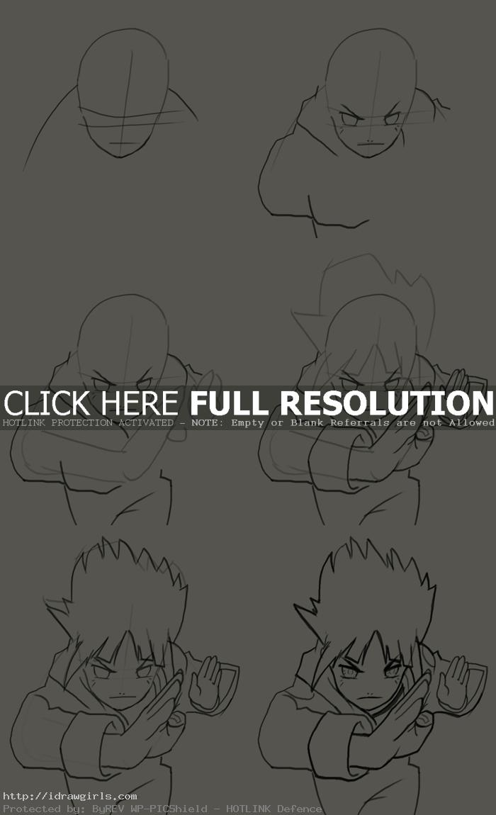 how to draw Hyuuga Hinata