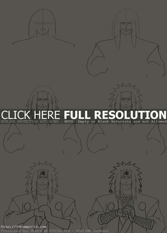 how to draw Jiraiya